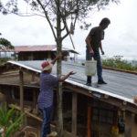 permacultura.xyz construcción de techos de tierra en la vereda Matarredonda, Nariño, Colombia superficie lista para recibir la tierra del techo.